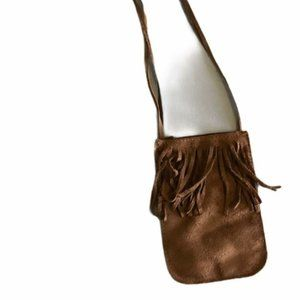 Bag Leather Suede Pouch with Fringe Costume Hallow